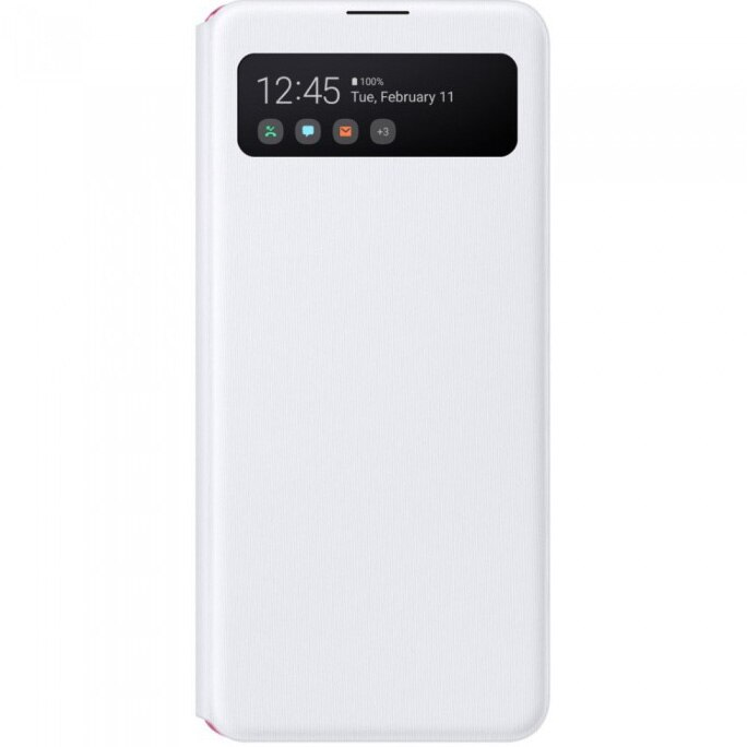 Fotografie Husa de protectie Samsung S View Wallet Cover pentru Galaxy A41 (2020), White