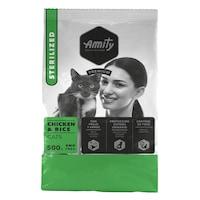 Суха храна за котки Amity Premium Adult Sterilizеd, Пилешко и ориз, 0.5 кг