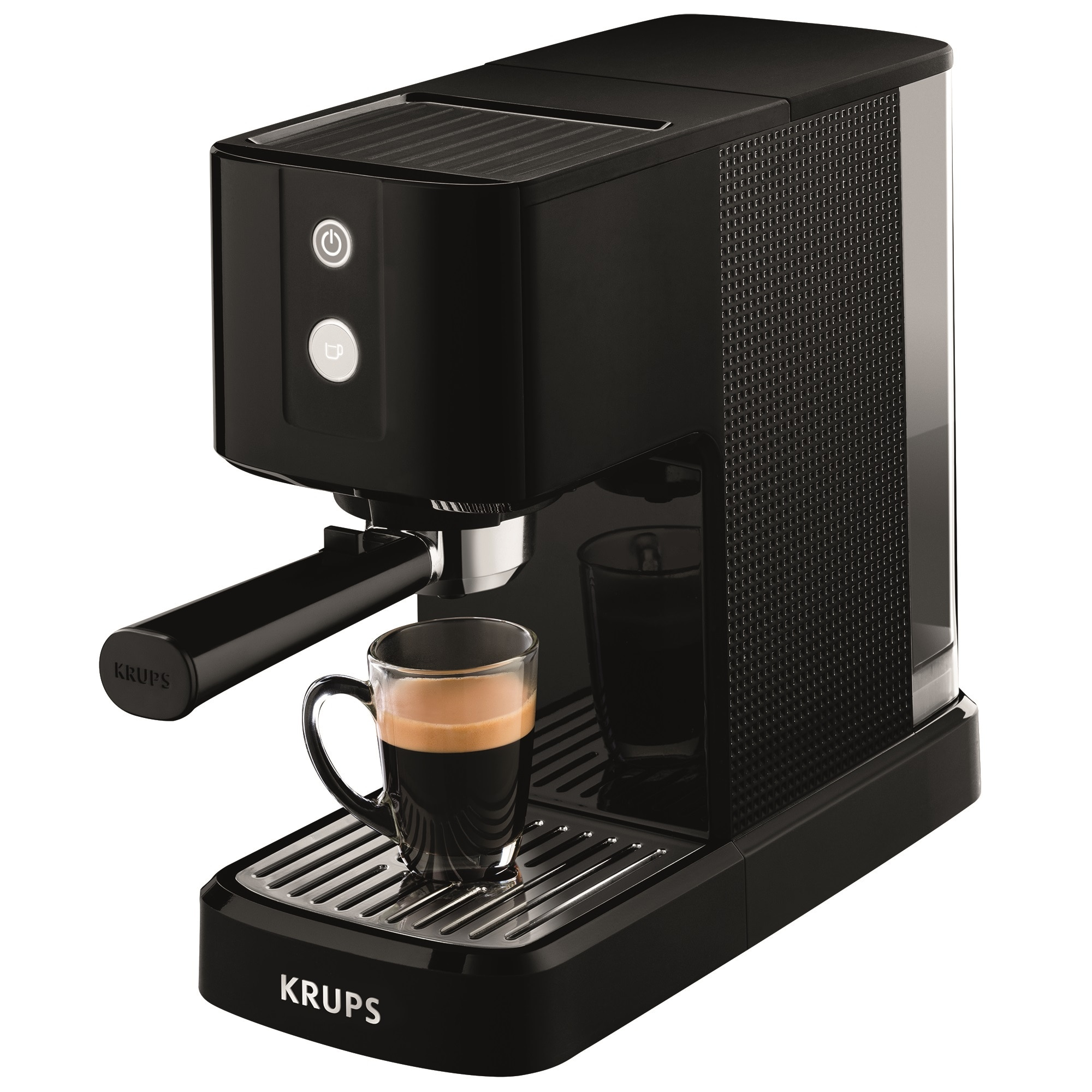Krups XP3410 Calvi karos eszpresszó kávéfőző, 1460W, 15 bar, 1 literes víztartály, Fekete