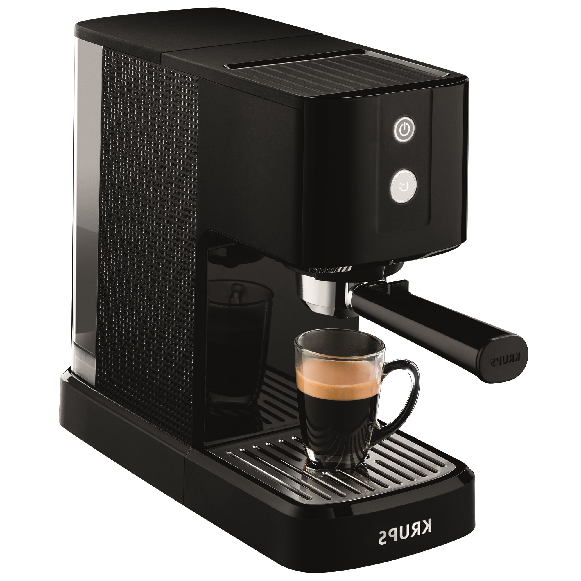 Fotografie Espressor manual Krups Calvi XP3410, 1460W, 15 bar, 1 l, Negru
