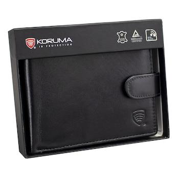 Portofel RFID pentru barbati cu buzunar pentru cartea de identitate