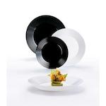 Сервиз за хранене Luminarc Harena, Черен/ Бял, 18 части