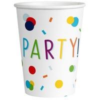 Konfettis Papír pohár 8 db-os 250 ml DPA9906348