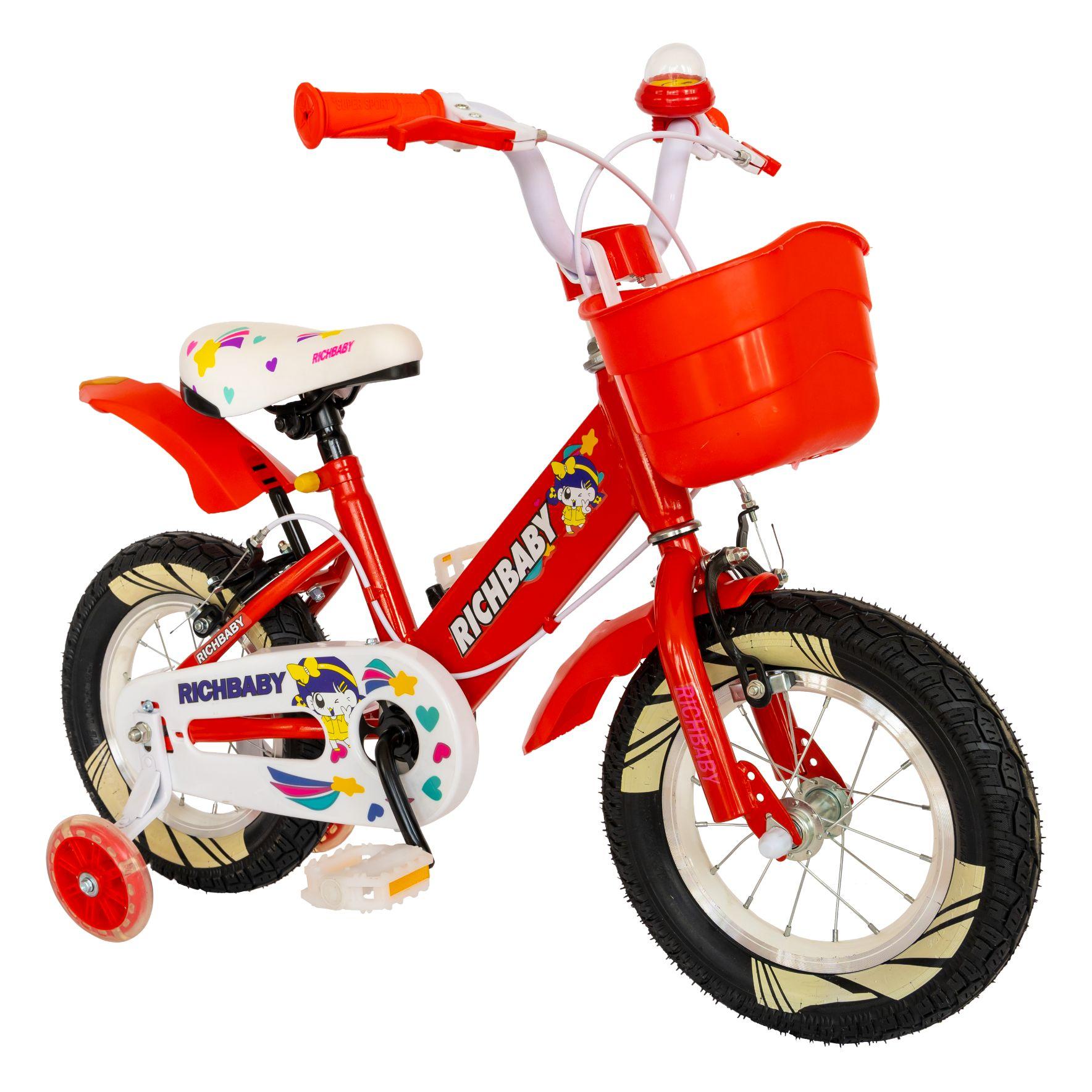 """Fotografie Bicicleta copii 16"""" Rich R1608A, pentru fete, rosu"""