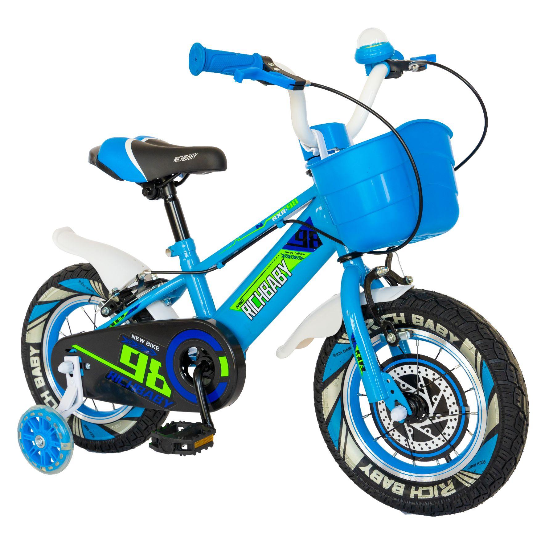"Fotografie Bicicleta copii 16"" Rich R1607A, pentru baieti, albastru"