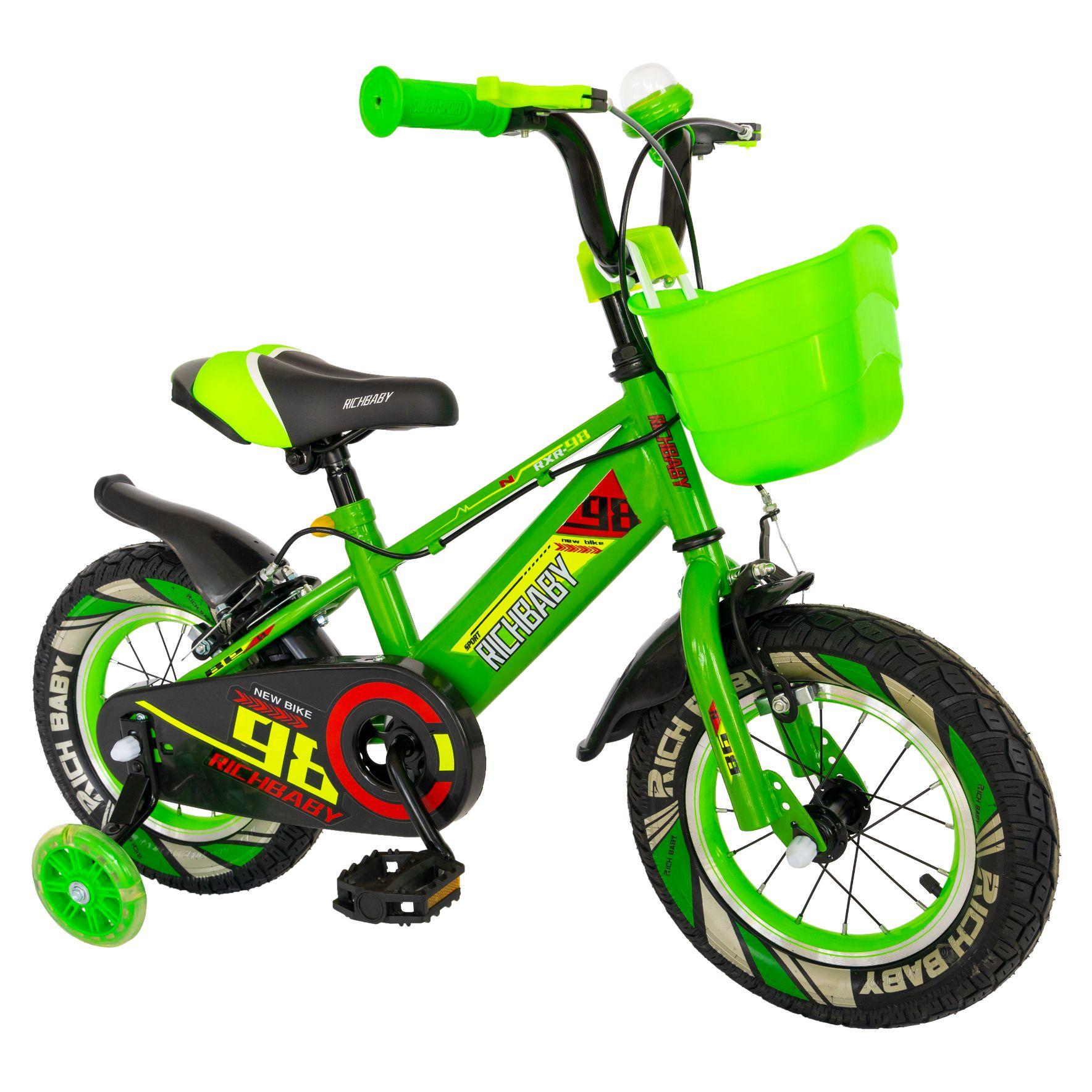 "Fotografie Bicicleta copii 16"" Rich R1607A, pentru baieti, verde"