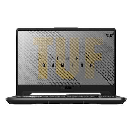 Лаптоп ASUS TUF Gaming A15 FA506II-HN156 с AMD Ryzen 5 4600H (3/4GHz, 8M), 32 GB, 1TB SATA 5400rpm, 1TB M.2 NVMe SSD, NVIDIA GTX 1650 Ti - 4 GB GDDR6, Windows 10 Pro 64-bit, сив / Черен