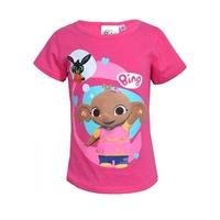 Bing nyuszi rövid ujjú lányka póló, pink 2 karakterrel (Méret: 92-116)