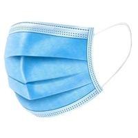 Háromrétegű szájmaszk készlet, 50db/csomag, egyhasználatos, Kék