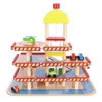 Дървена писта за деца ISO TARDE, 4 нива с асансьор, коли