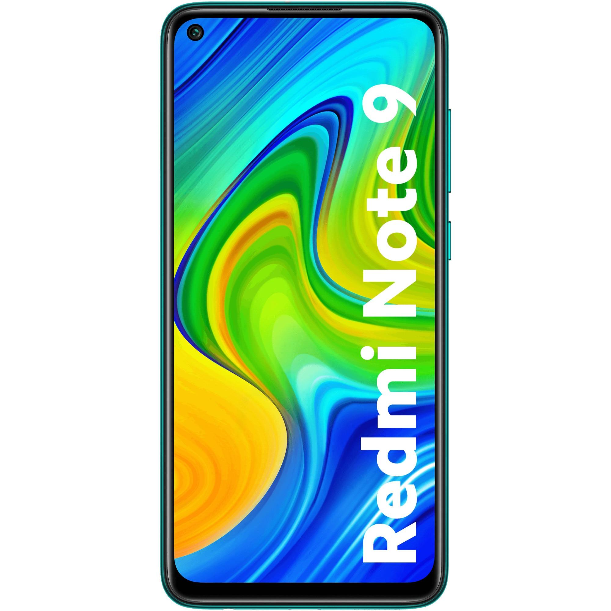 Fotografie Telefon mobil Xiaomi Redmi Note 9, Dual SIM, 64GB, 4G, Forest Green