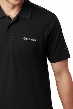 Columbia, Cascade Range™ galléros pamuttartalmú póló, Fekete