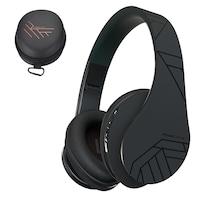 PowerLocus P2 Bluetooth fejhallgató, vezeték nélküli fül köré illeszkedő,összehajtható,micro SD, FM Rádió - Fekete