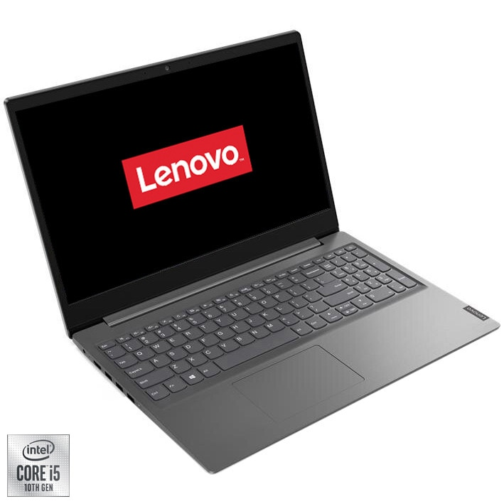 "Fotografie Laptop Lenovo V15-IIL cu procesor Intel Core i5-1035G1 pana la 3.60 GHz, 15.6"", Full HD, 8GB, 1TB HDD, Intel UHD Graphics, Free Dos, Iron Grey"
