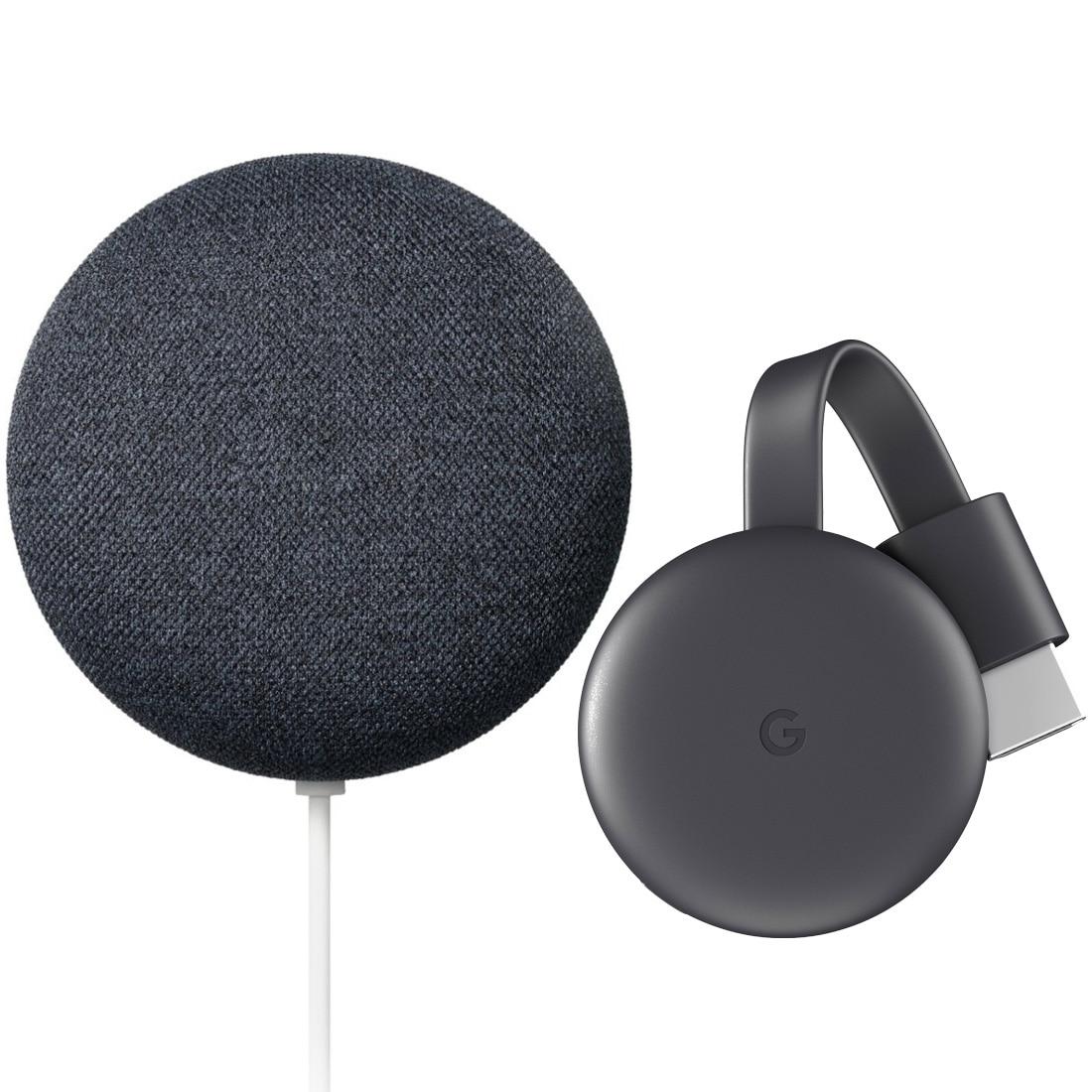 Fotografie Bundle Google Chromecast 3 + Google Nest mini generatia 2, negru