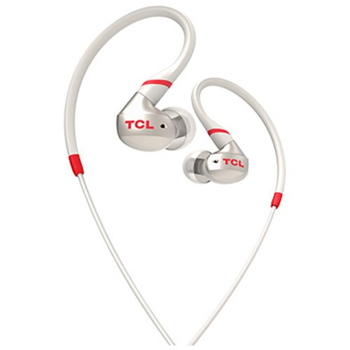 Fotografie Casti cu fir in-ear sport TCL ACTV100WT-EU, IPX4 waterproof, Crimson White