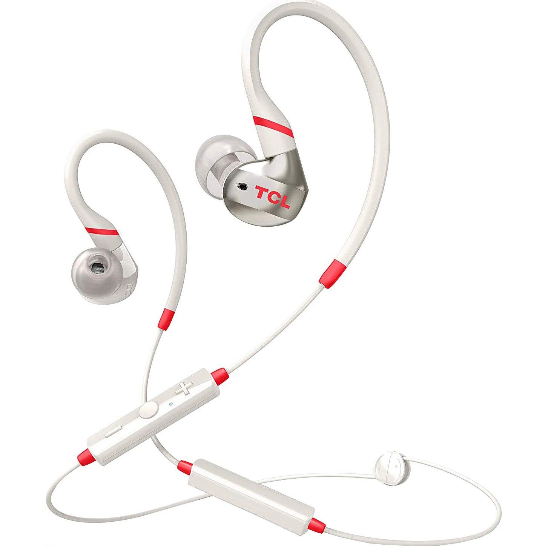 Fotografie Casti Bluetooth in-ear sport TCL ACTV100BTWT-EU, IPX4 waterproof, Crimson White