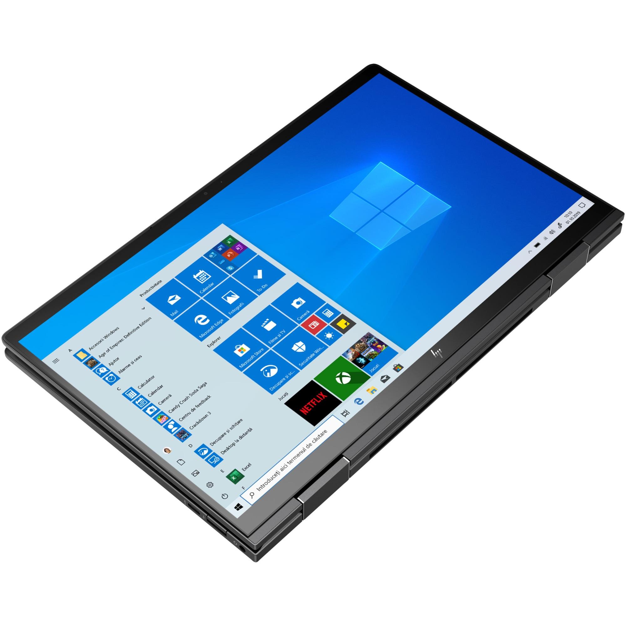 "Fotografie Laptop 2 in 1 HP ENVY x360 13-ay0004nn cu procesor AMD Ryzen™ 5 4500U pana la 4.00 GHz, 13.3"", Full HD, IPS, Touch, 8GB, 512GB SSD, AMD Radeon Vega Integrated Graphics, Windows 10 Home, Nightfall black"