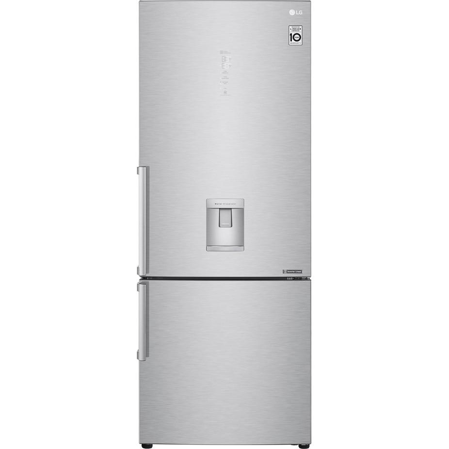 Fotografie Combina frigorifica LG GBF569NSAZB, 451 l, NoFrost, Clasa A++, Doorcooling+, WiFi, Dozator apa, H 185 cm, Inox