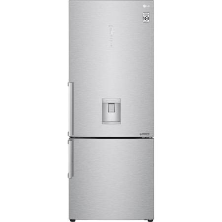 Combina frigorifica LG GBF569NSAZB, 451 l, NoFrost, Clasa A++, Doorcooling+, WiFi, Dozator apa, H 185 cm, Inox