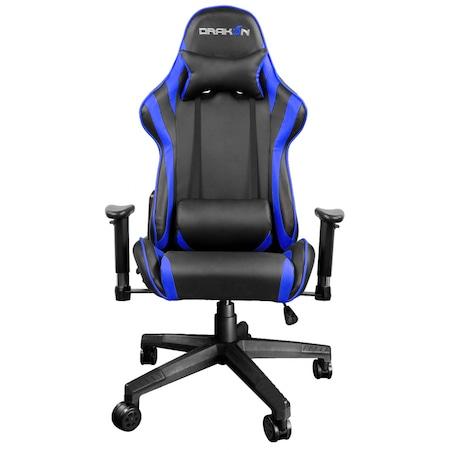 RAIDMAX Drakon DK706BU Gamer szék, Fekete/Kék