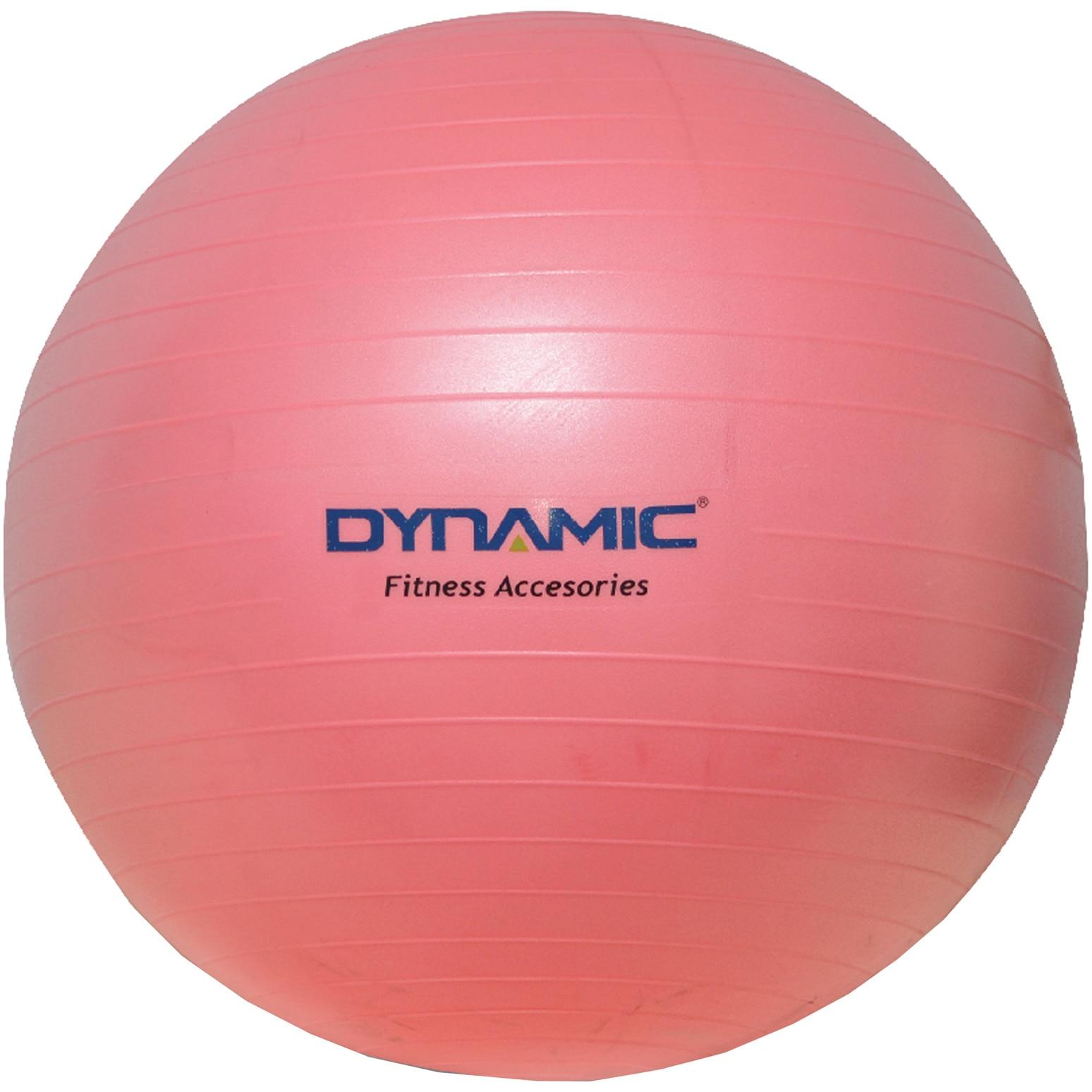 Fotografie Gym-ball fitness Kondition Dynamic, 55 cm, cu pompa, Roz