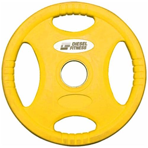 Fotografie Disc olimpic Kondition, coating cauciuc, 1.25 kg, Galben