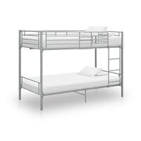 vidaXL szürke fém emeletes ágy 90 x 200 cm
