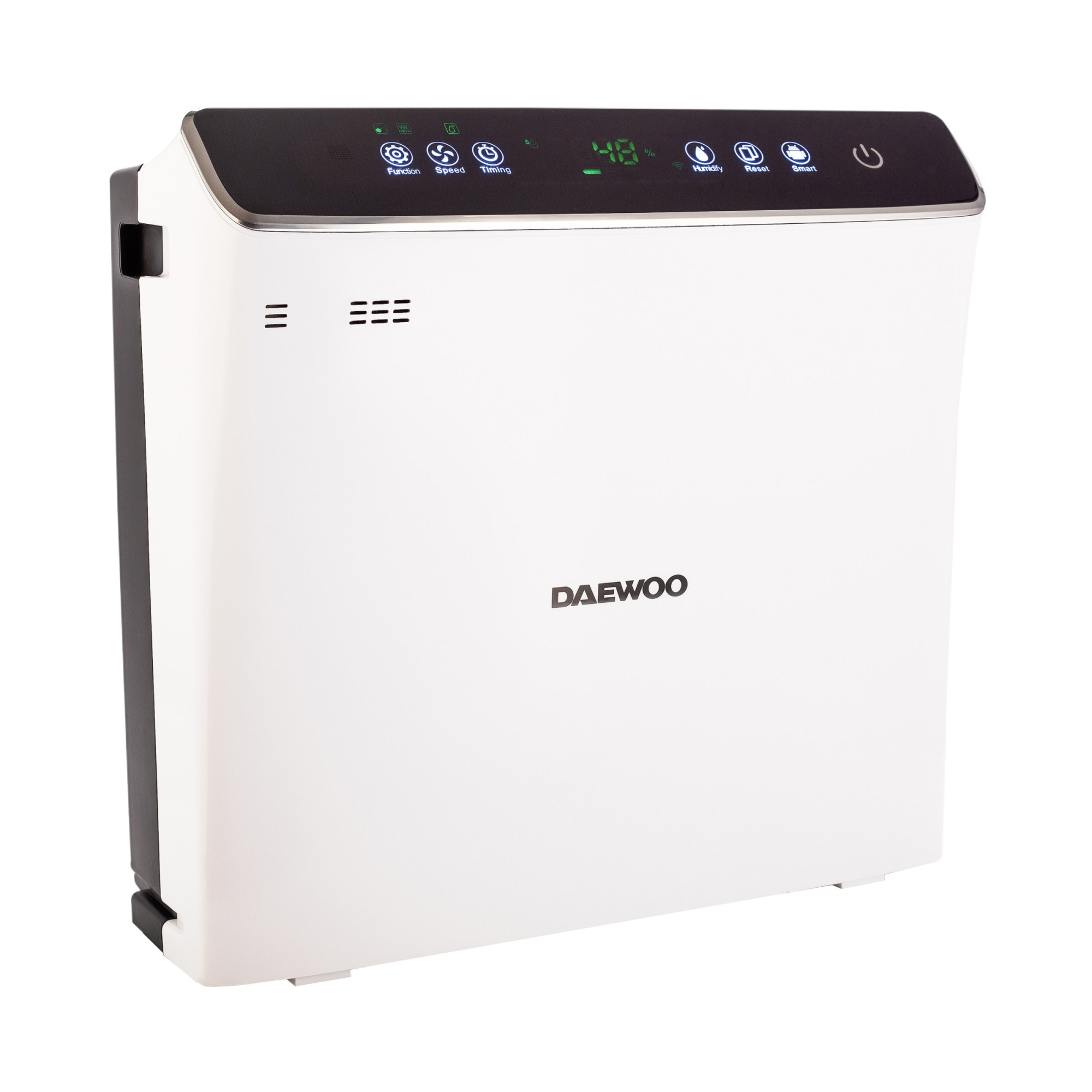 Fotografie Purificator de aer si umidificator Daewoo DAP400 Wi-Fi, 75 W, 300 m3/h, filtru HEPA13, carbon activ, foto catalizator, lampa UV, rezervor apa 2.5 l, senzor inteligent, panou de comanda IMD, Anion, alarma automata, 45 dB