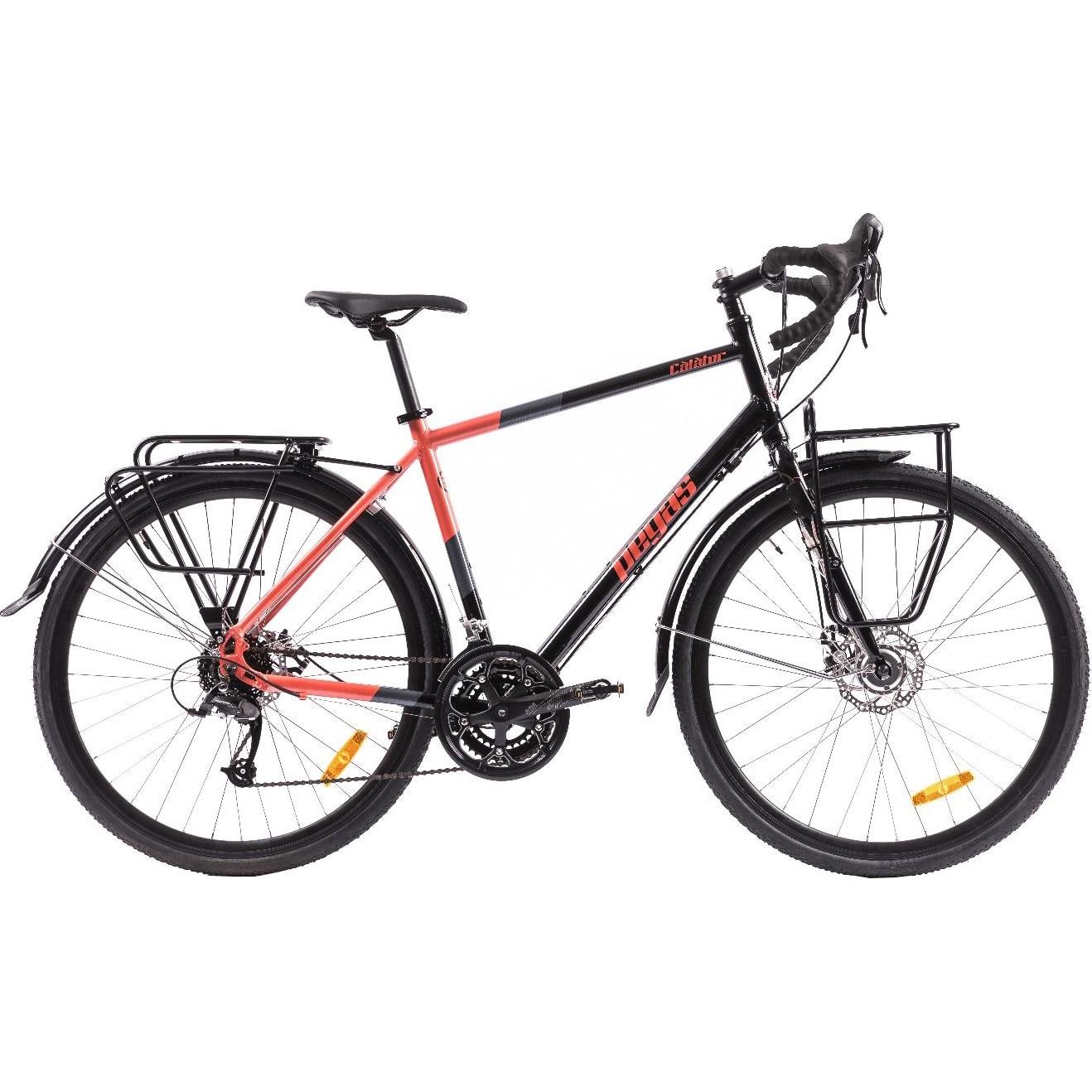 """Fotografie Bicicleta Pegas Calator 28"""", M/49,5cm, Negru Portocaliu"""