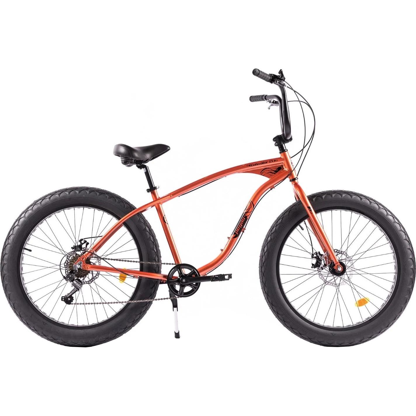 Fotografie Bicicleta Pegas Fat Bike Cutezator Ev, 7s, Portocaliu Cupru