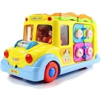 Interaktiv oktató játék autobusz, fényekkel és hangokkal - 1,2,3 éves fiúknak és lányoknak, Több színű