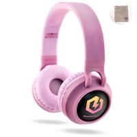 PowerLocus Buddy Bluetooth fejhallgató,12 óralejátszási idő, ,vezeték nélküli fül köré illeszkedő összehajtható - N-Rózsaszín