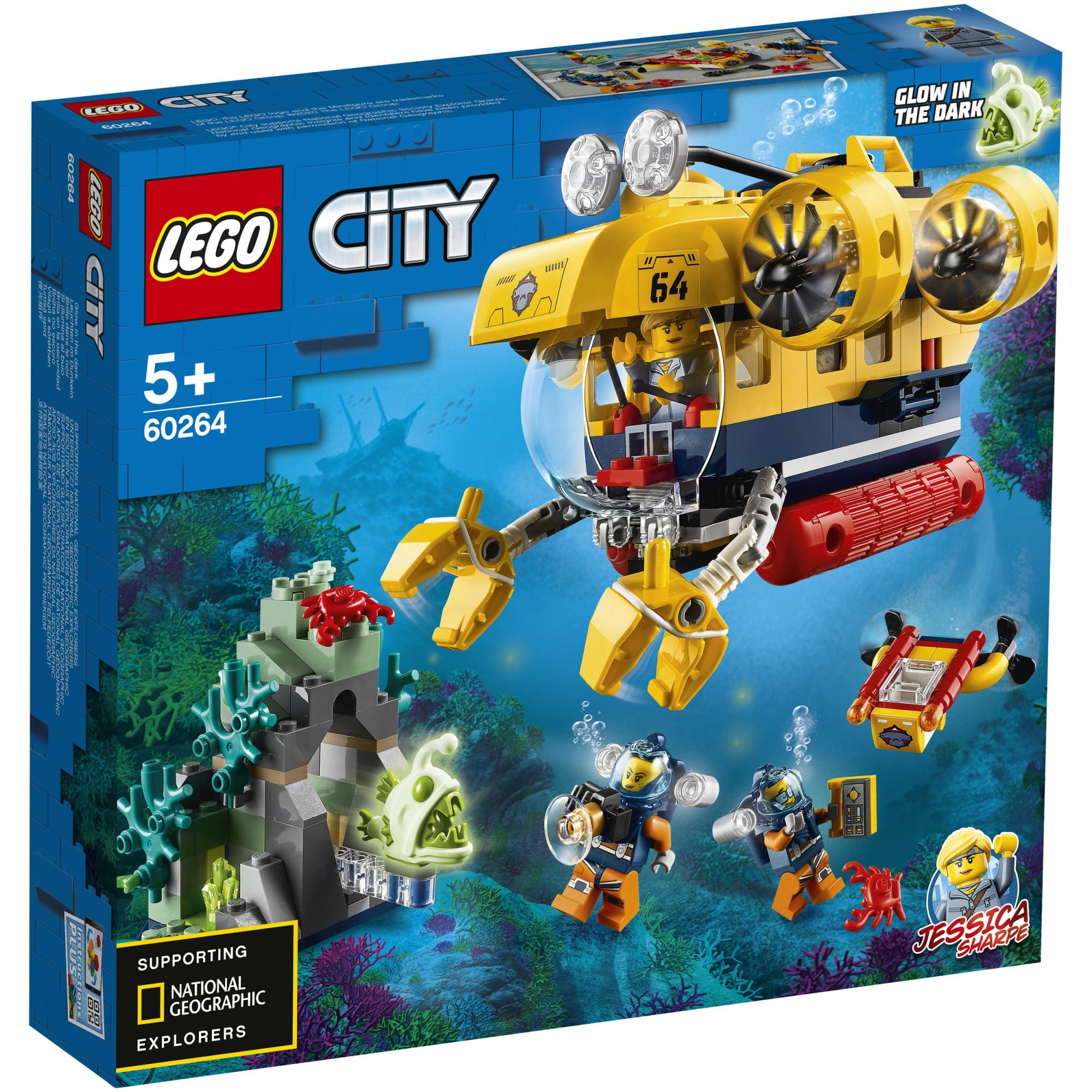 Fotografie LEGO City - Submarin de explorare a oceanului 60264, 286 piese