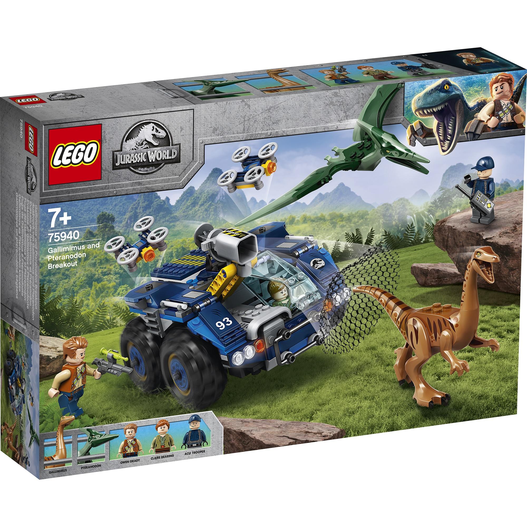 Fotografie LEGO Jurassic World - Evadarea lui Gallimimus si Pteranodon 75940, 391 piese