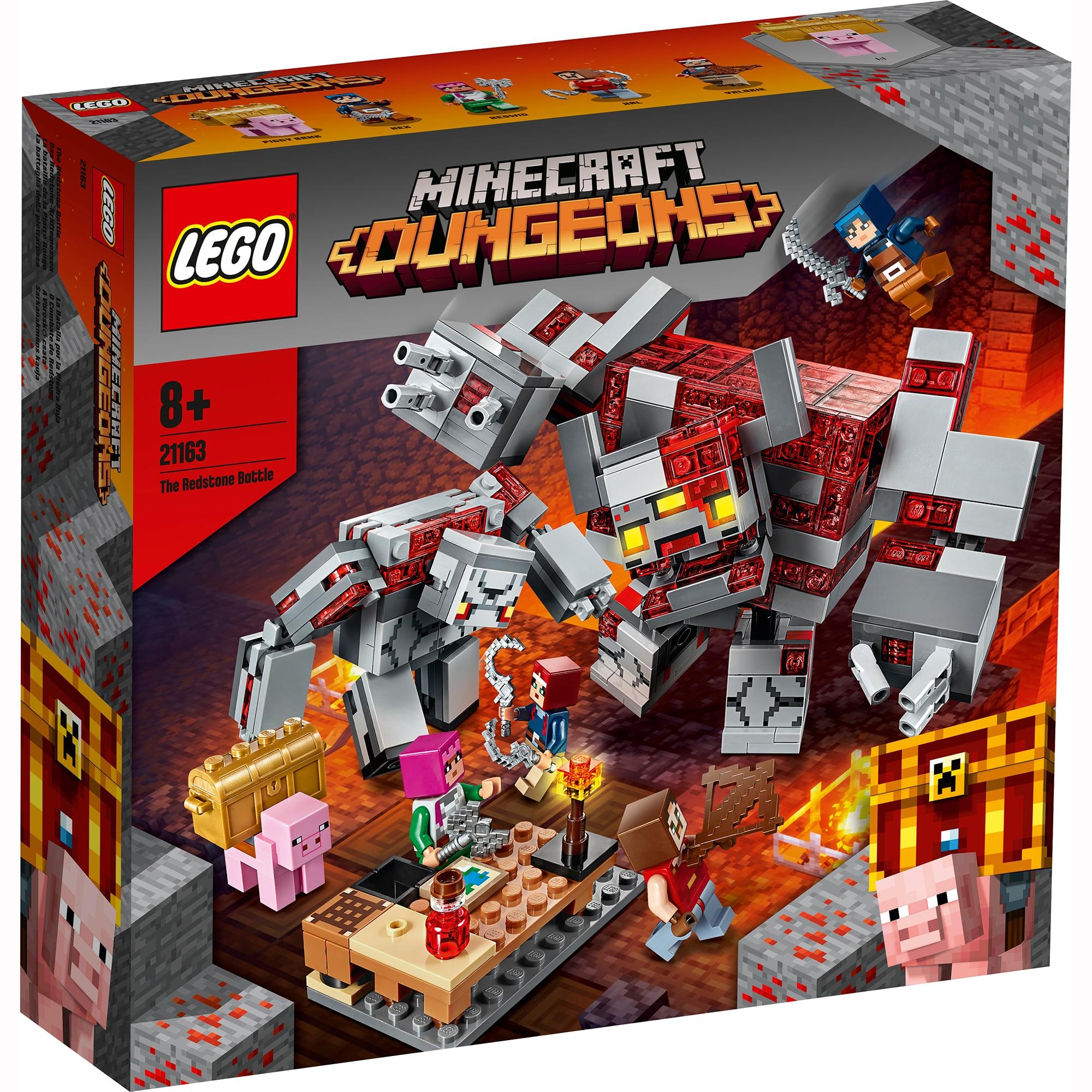 Fotografie LEGO Minecraft - Batalia pentru piatra rosie 21163, 504 piese