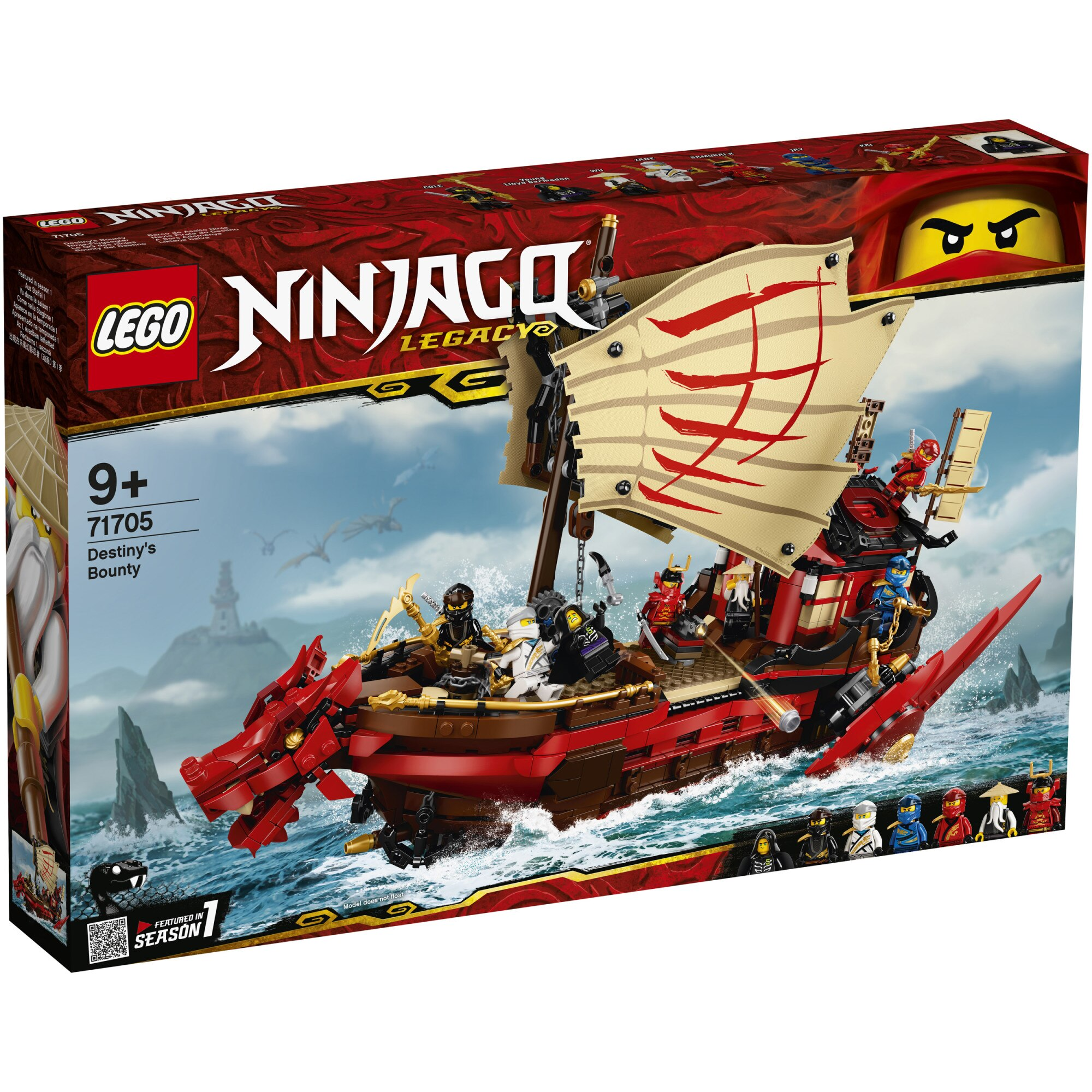 Fotografie LEGO NINJAGO - Destiny's Bounty 71705, 1781 piese