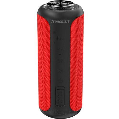 Fotografie Boxa portabila T6 Plus Upgraded, Bluetooth 5.0, IPX 6 rezistenta la apa, baterie 6600 mAh, functie de baterie externa, 40W, rosu