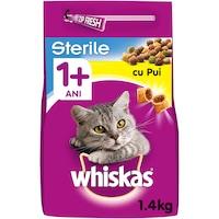 Суха храна за котки Whiskas Sterile, Пилешко, 1.4 кг