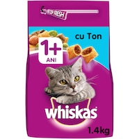 Суха храна за котки Whiskas, Тон & Дроб, 1.4 кг