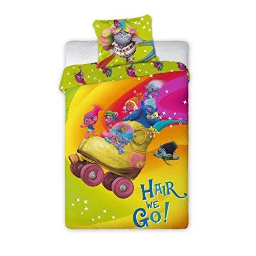 Trollok ágyneműhuzat szett Hair we go! – 160×200 és 70×80 cm