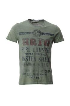 Мъжка тениска Pepe Jeans Gladstone, памучна, Зелен, XL EU