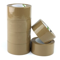 ProCart® ragasztószalag, oldószer alapú, 48mm x 132m, barna, 6 db tekercs készlet