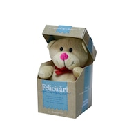 "Urs Plus in cutie cu mesaj personalizat ""Felicitari Pentru Absolvire"", 12.5 x 9 cm"