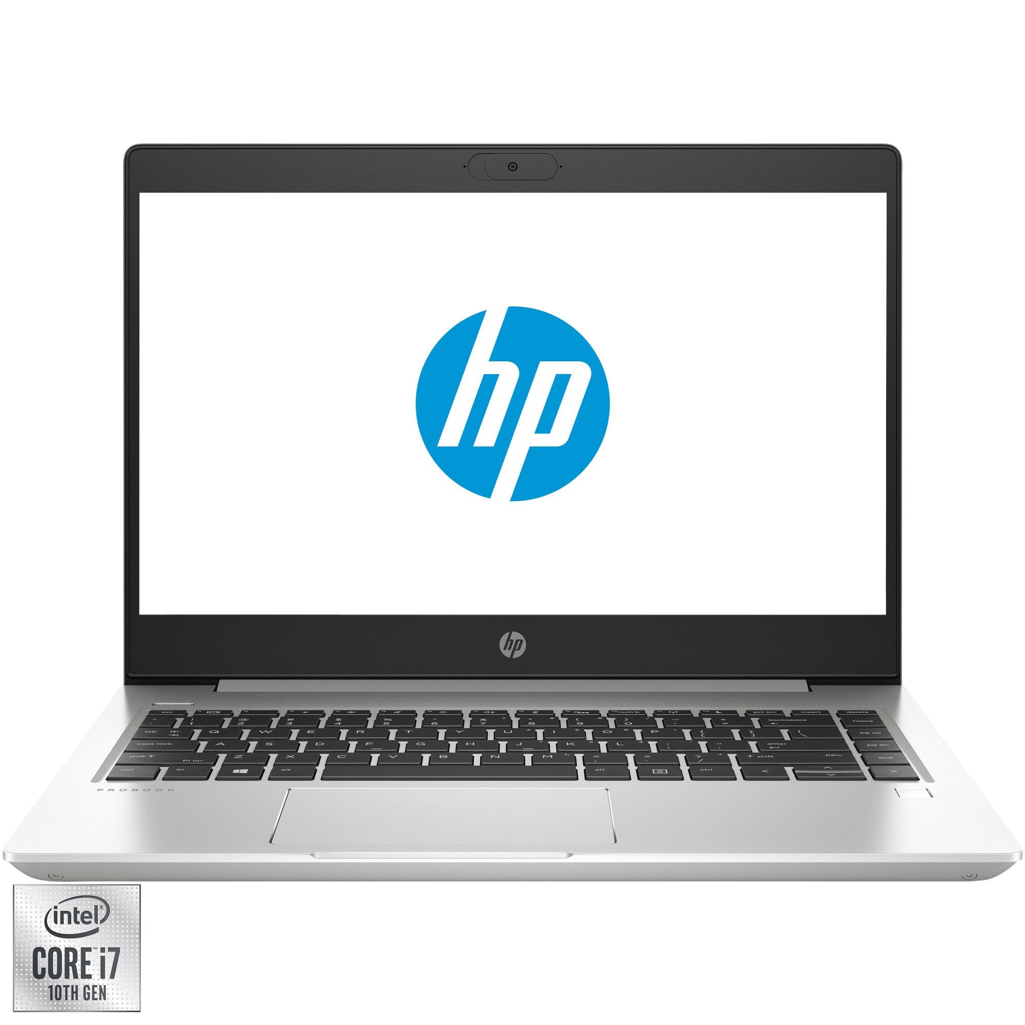 "Fotografie Laptop ultraportabil HP ProBook 440 G7 cu procesor Intel® Core™ i7-10510U pana la 4.90 GHz, 14"", Full HD, IPS, 8GB, 1TB HDD, NVIDIA® GeForce® MX250 2GB, Free DOS, Silver"