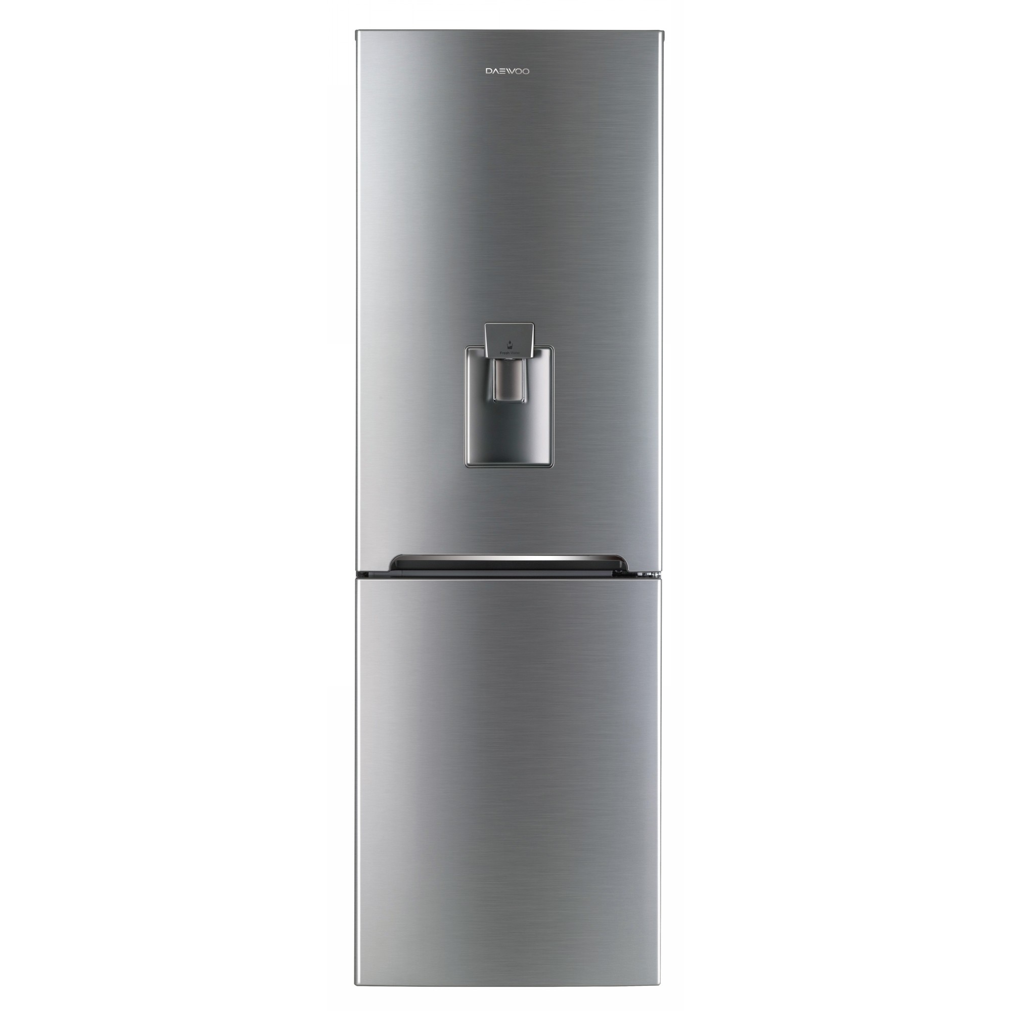 Fotografie Combina frigorifica Daewoo RN-308RDQM, 305 l, Clasa A+, No Frost, Dispenser apa, H 187 cm, Silver