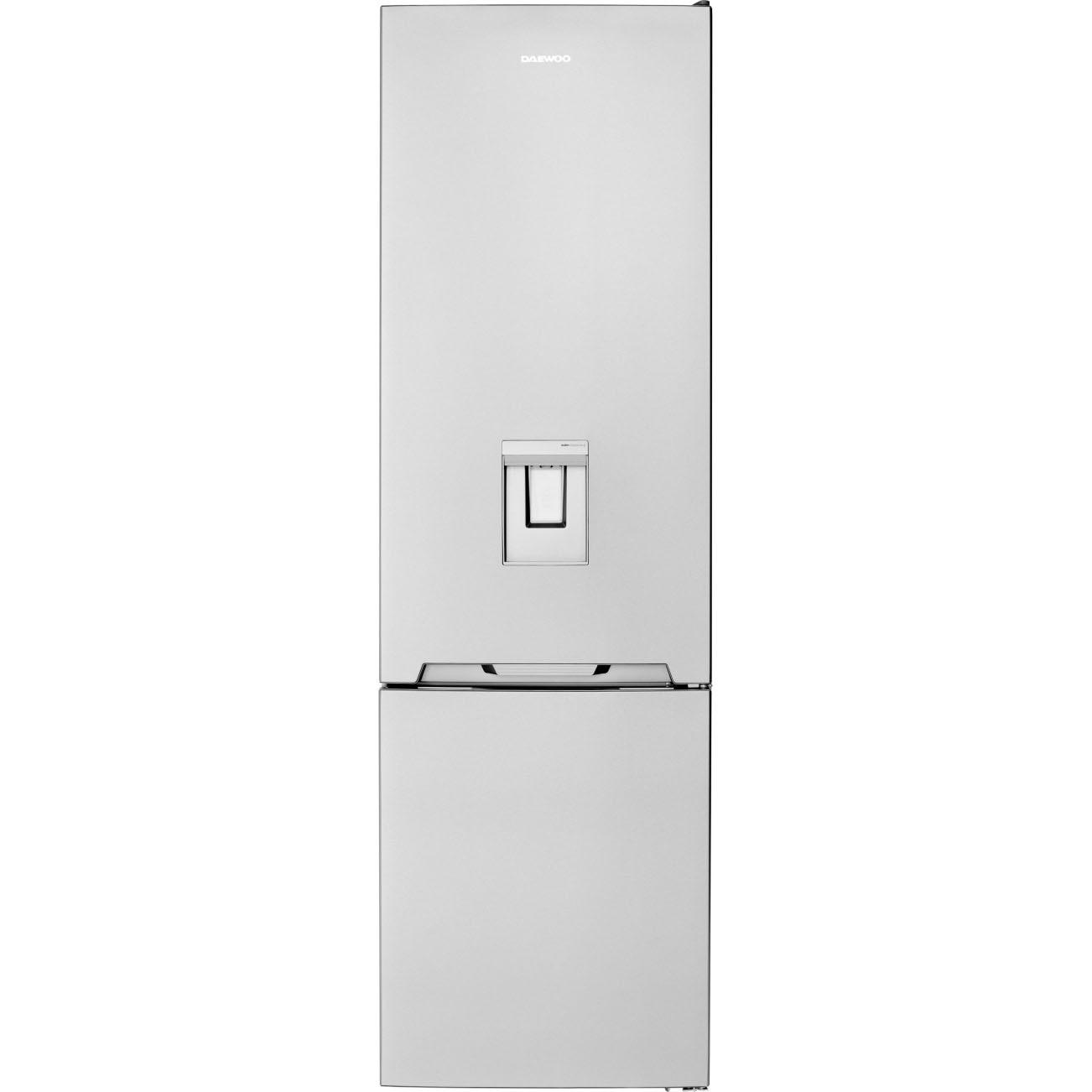 Fotografie Combina frigorifica Daewoo RN-308RDQM, 330l l net, Clasa E, No Frost, Dispenser apa, H 187 cm, Inox