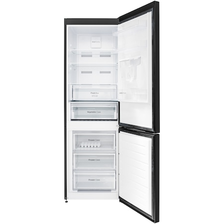 Хладилник с фризер Daewoo RN-308RDQB, 330 л, Клас E, No Frost, Диспенсър за вода, H 187, Черен