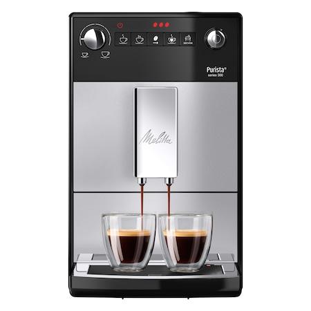 Кафеавтомат Automat Melitta®Purista, 15 bar, 5 степени на смилане, Super Silent, Super SLIM 20 см