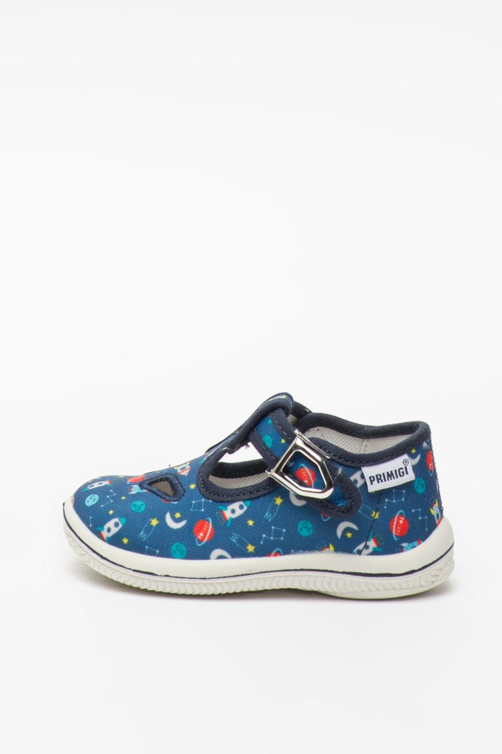 concepto mezcla Iniciar sesión  Primigi, Pantofi din material textil cu imprimeu, Albastru, 18 EU - eMAG.ro